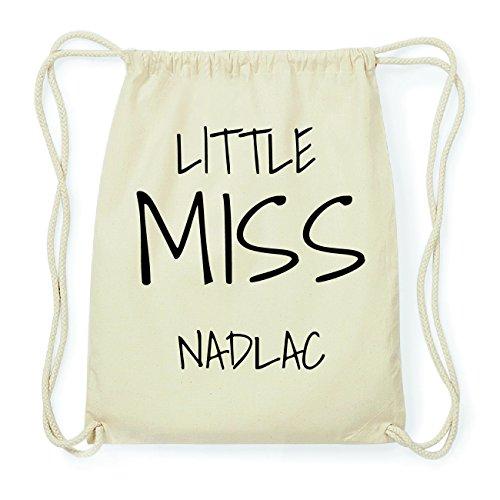JOllify NADLAC Hipster Turnbeutel Tasche Rucksack aus Baumwolle - Farbe: natur Design: Little Miss gMppxgx