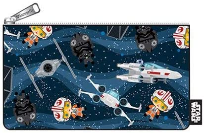 Loungefly Star Wars Chibi Ships Print Coin Cosmetic Bag