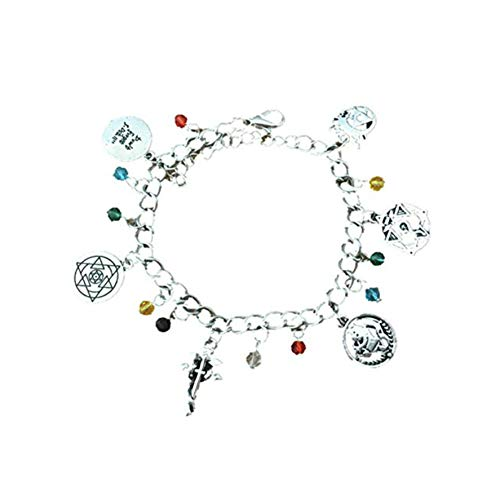 Full Metal Alchemist Charm Bracelet Quality Cosplay Jewelry Anime Manga Series with Gift Box