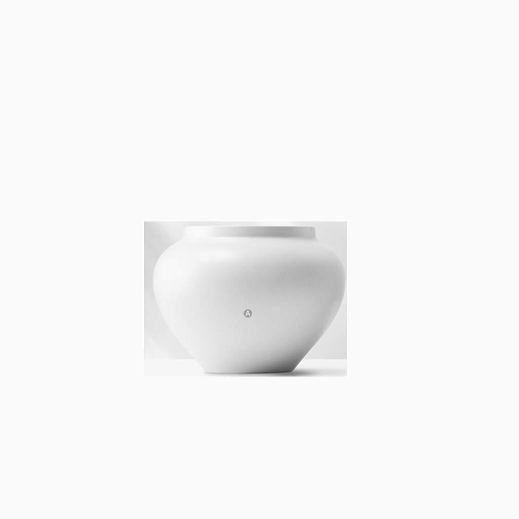 HBJP 新中国セラミック花瓶装飾リビングルームフラワーアレンジメント陶器フラワーデコレーションホワイト 花瓶 (サイズ さいず : High 18CM) B07S2H1YM4  High 18CM