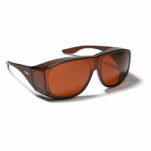 (Blue Blocking Sun Shield Brown With Amber Lenses by Solar)