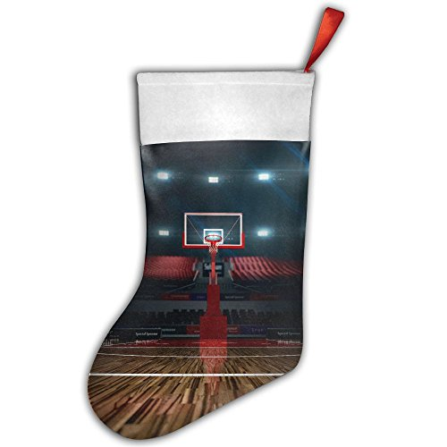 PKEIWE Basketball Court Christmas Stocking Home Party Decorate