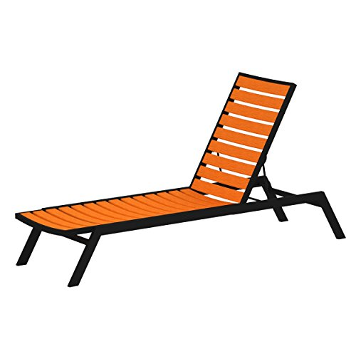 POLYWOOD Chaise, Black/Tangerine Review