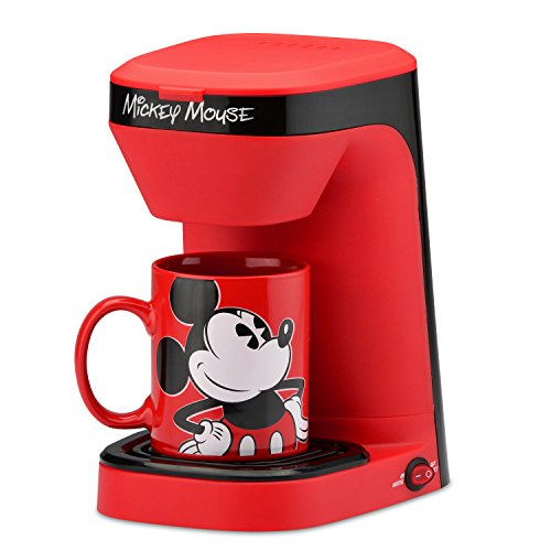 Mickey Mouse Coffee Mug (Disney Dcm-123CN Mickey Mouse Single Serve Coffee Maker, Red/Black)