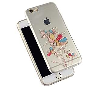 "MOONCASE iPhone 6S Funda, UltraSlim Cristal Brillante Bling [Flor] Carcasa de TPU Case Cover para iPhone 6 6S 4.7"""