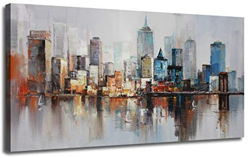 Abstract Cityscape Brooklyn Stretched Buidlings product image