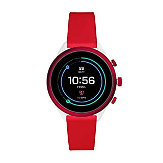 Fossil Women's Sport Heart Rate Metal and Silicone Touchscreen Smartwatch, Color: White, Red (Model: FTW6052) (B07WQ9MK1V) | Amazon price tracker / tracking, Amazon price history charts, Amazon price watches, Amazon price drop alerts