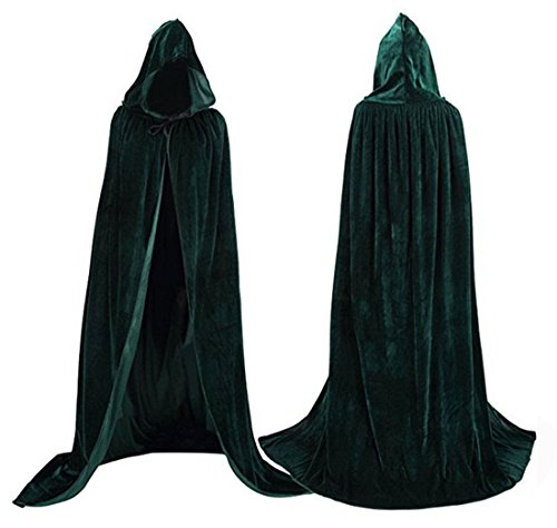 Flywife Womens Velvet Hooded Cloak Halloween Costumes Hooded