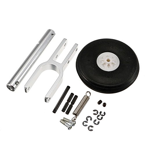 Aluminum Alloy Retractable Landing Gear With Wheels for MTD Talon Flying Wing RC Airplane