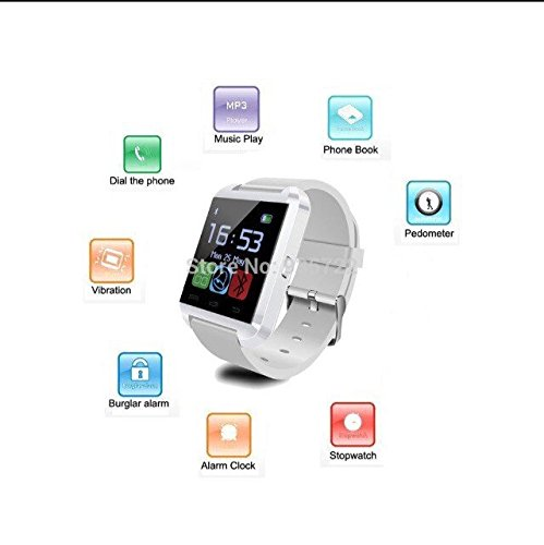 Maya reloj U8 Bluetooth reloj inteligente para iPhone, Sony, Samsung y todos los Android: Amazon.es: Relojes