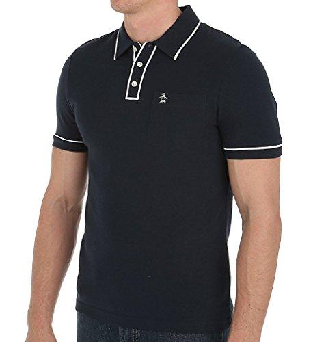 Original Penguin Men's Earl Pique Polo Shirt, Total Eclipse, Medium