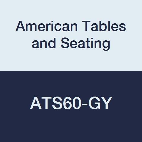 Standard Wilsonart Laminate (American Tables & Seating ATS60-GY Vinyl T-Molding Laminate Round Table Top, Polyethylene T-Mold Edge, Standard Wilsonart Laminate, 60