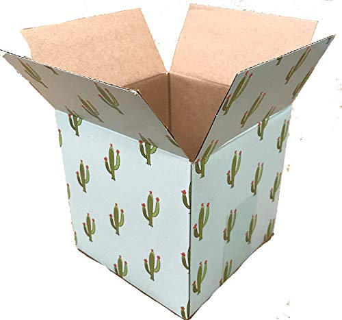 Decorative Corrugated Box - 25 5x5x5 Cactus Designer Boxes Corrugated Cardboard Box Shipping Cartons Mailers Custom Printed Containers 5