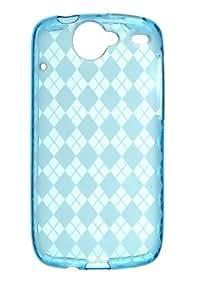 Google Nexus One Flexible TPU Skin Case - Blue Check