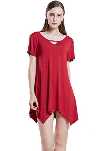 Womens Swing Tunic Tops Loose Fit Comfy Flattering T Shirt SWISSWELL Fushia 3X-Large (Nice Swing Sets)