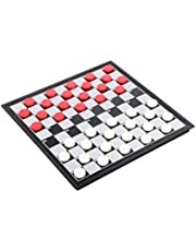 STOBOK 1 Box International Checkers Toy Educational Folding Chess Toy Magnetic Chess Board Game Training Draughts for Adults Kids Children