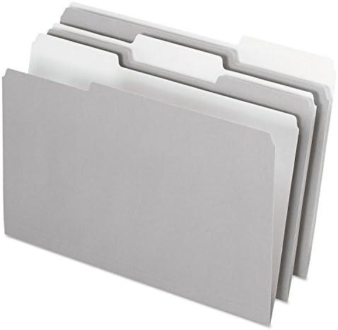 1//3 Cut Top Tab Legal Pendaflex 435013GRA Interior File Folders 100//Box Gray