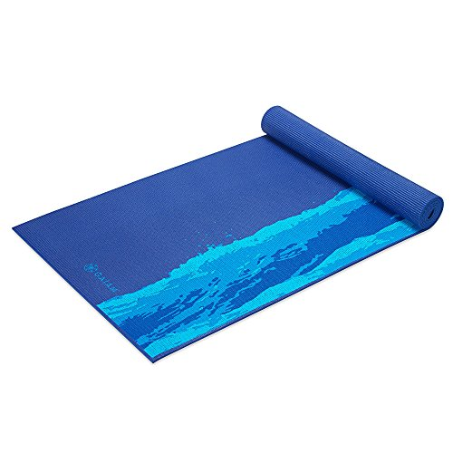 Gaiam Yoga Mat Premium Print Extra Thick Non Slip Exercise & Fitness Mat for All Types of Yoga, Pilates & Floor Exercises, Oceanscape, 5/6mm