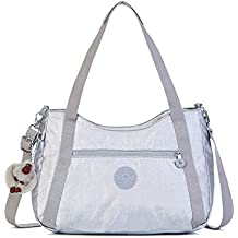 Kipling Women's Waylon Metallic Handbag One Size Platinum Metallic