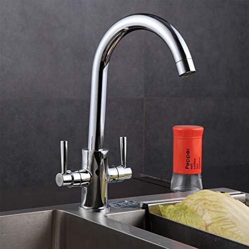 Mitigeur de cuisine pour /évier monobloc bec pivotant haute pression laiton chrom/é