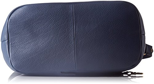 Le Tanneur Lou - borsa a tracolla Donna, Bleu (Tricolore), 15x32x27 cm (W x H L)