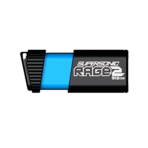 Patriot 512GB Supersonic Rage 2 Series USB 3.0/3.1 Gen 1 Flash Drive with Up To 400MB/sec Read, 300MB/s Write (PEF512GSR2USB) by Patriot