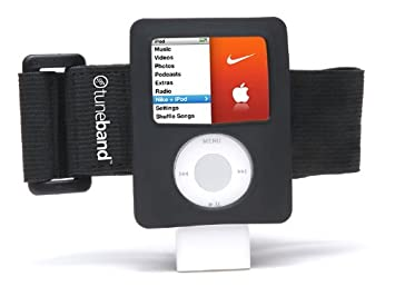 4cd73454d05af TuneBand for iPod nano 3rd Generation (Model A1236, Square Shape), Premium  Armband, Compatible with Nike+iPod, BLACK