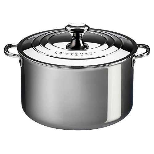Le Creuset Tri-Ply Stainless Steel Stockpot with Lid, 9-Quart Le Creuset Stainless Steel Knob