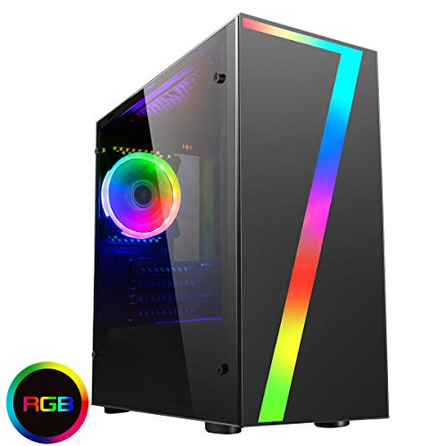 OCHW Seven RGB Ultra Fast Gaming PC Desktop Computer AMD A6 9500 Dual Core ATI Radeon HD R5 Graphics USB 3.0 1TB 8GB…