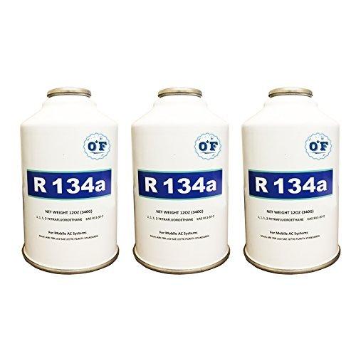 ZeroF R-134A Refrigerant 3 12oz Cans