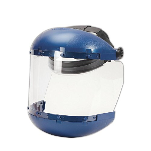 Sellstrom 38110 Complete Face Shield with Drop-Down Ratchet Headgear, 8x15.5, Clear, 6x19 (Complete Head Drop)