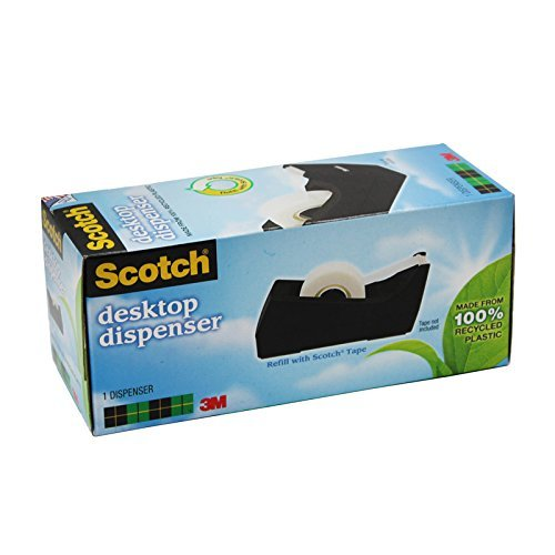 Desktop Tape Dispenser, Manual, Black