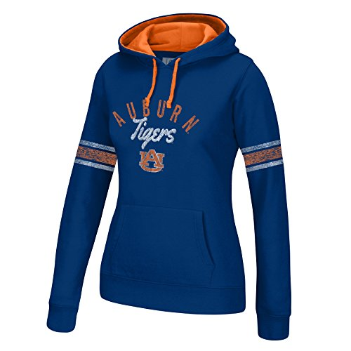 Tigers Womens Hoodie Sweatshirt (J America NCAA Auburn Tigers Women's Essential Arm Stripe Hoodie, X-Large, Navy/Orange)