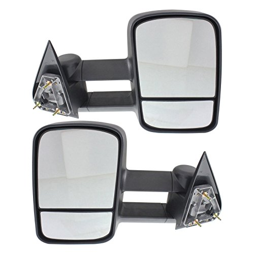 Make Auto Parts Manufacturing Set of 2 Driver and Passenger Side Manual Non-Heated Telescopic Tow Mirrors For Ford F150 1997-2003 / For Ford F250 1997-1999 - FO1320178 FO1321178