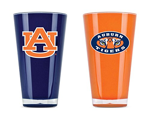 NCAA Auburn Tigers 20oz Insulated Acrylic Tumbler Set of 2