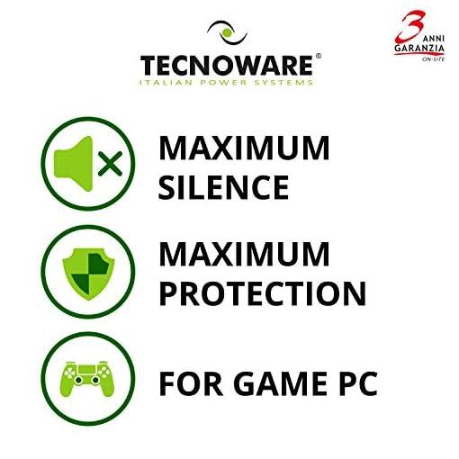 Tecnoware UPS EXA Plus 1500 Sistemas de alimentación ininterrumpida para Game PC y Consola - Alta Silenciosidad - 8… 5