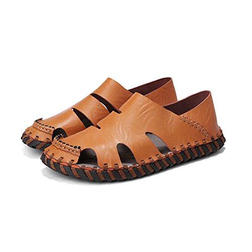 Sandali in Brown da Brown pescatore da da Sandali da Size EU spiaggia estivi scarpe Sandali in uomo uomo 40 spiaggia Color pelle sudore da chiusi sportivi all'aperto pelle assorbenti Sandali wcx8qcYH4A