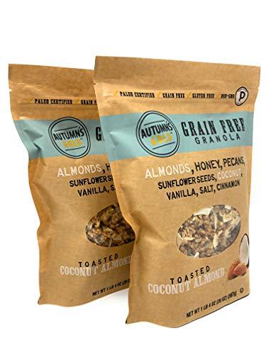 Autumn Way - Autumn's Gold Grain Free Toasted Coconut Almond Granola 1lb 4oz (2 Pack)