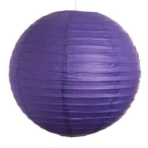 Purple Paper Lamp Wedding Decorations, 12