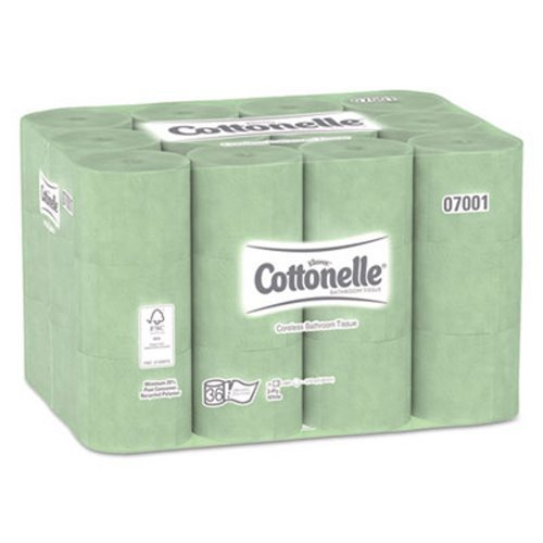 Cottonelle Coreless Toilet Paper (07001), Standard Rolls, 36 Rolls/Case, 800 Sheets/Roll, 28,800 Sheets/Case