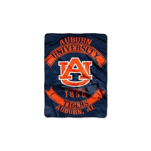 The Northwest Company Officially Licensed NCAA Auburn Tigers Rebel Plush Raschel Throw Blanket, 60