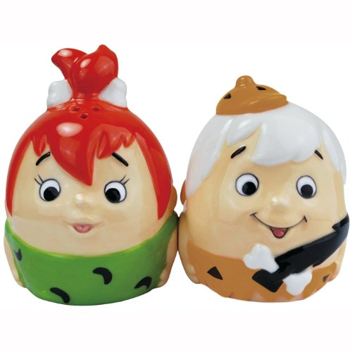 Westland Giftware Pebbles and Bamm-Bamm Egg Magnetic Salt and Pepper Shaker Set, 2.75-Inch