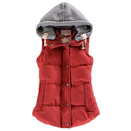 キリスト障害シーサイドFulision 女性の 短いパラグラフ ベスト パーカー ファッション 冬 コート