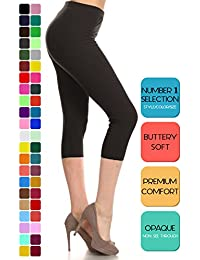 Buttery Soft Basic Solid 36+ Colors Women's Capri Leggings
