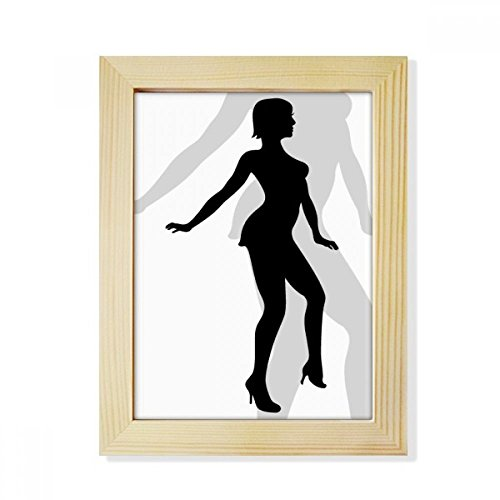 DIYthinker Hot Woman Dancing Silhouette Desktop Wooden Photo Frame Picture Art Painting 6x8 inch by DIYthinker