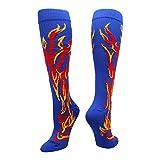 MadSportsStuff Flame Socks Athletic Over The Calf Socks (Multiple Colors)