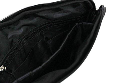 Borsello uomo Roncato tracolla piatta espandibile bandoliera 46.58.20 nero