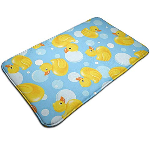 Duck Luxury Rubber Duck - WOWINNER Luxury Yellow Rubber Duck Floor Mat Size 19.7 by 31.5 Inch Maximum Absorbent Soft Non-Slip Thick Bath Rug Machine Wash Easier to Dry for Bedroom Kitchen Livingroom Bathroom Rug