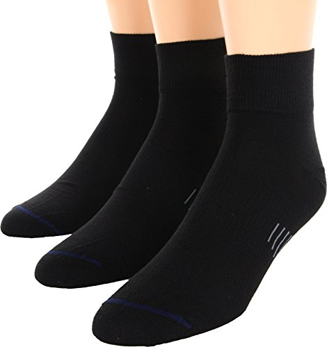 Wrightsock Unisex Ultra Thin Qtr 3-Pair Pack Black Medium