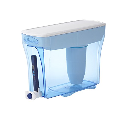 ZeroWater 23 Cup Dispenser with Free Water Quality Meter BPA-Free NSF Certified to Reduce Lead and Other Heavy Metals